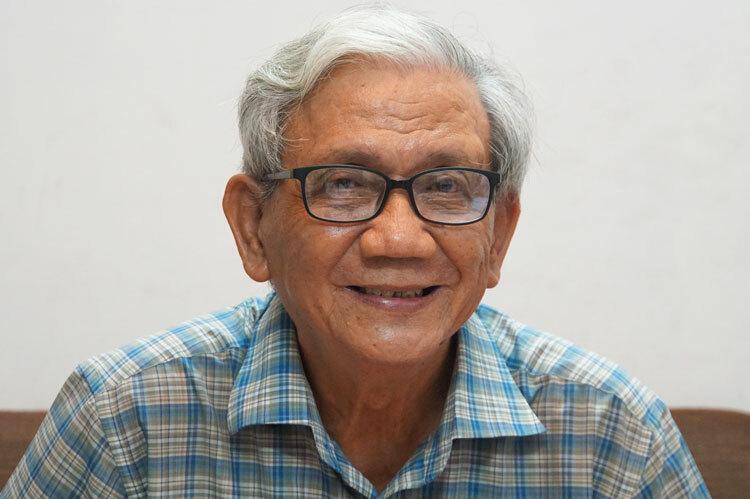 Nhà giáo Trần Mậu Minh. Ảnh: Mạnh Tùng.