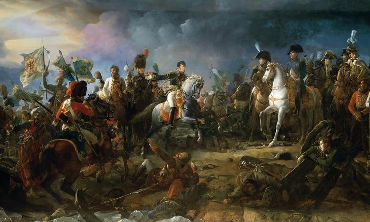 Napoleon và các tướng Pháp trong trận Austerlitz. Ảnh: Wikimedia Commons.
