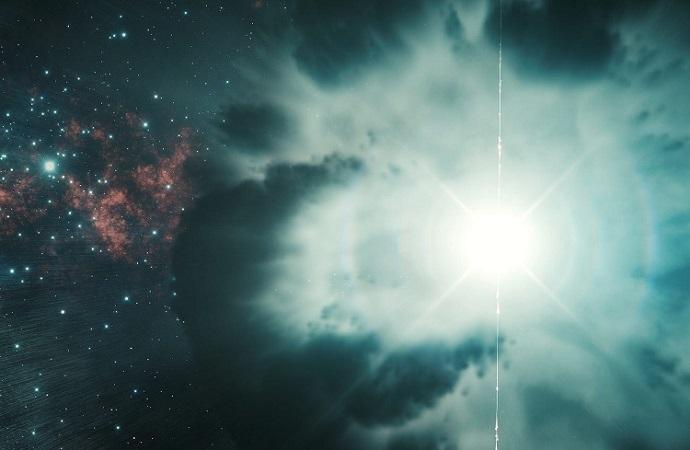 Vụ nổ tạo chớp tia gamma mạnh nhất trong vũ trụ. Ảnh: Business Insider.