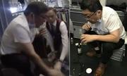 Bác sĩ hút nước tiểu cứu người trên chuyến bay
