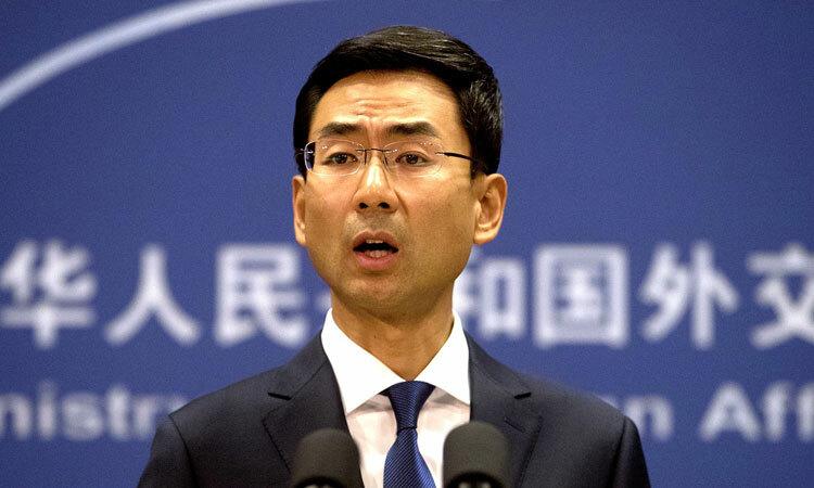Người phát ngôn Bộ Ngoại giao Trung Quốc Cảnh Sảng. Ảnh: AP.