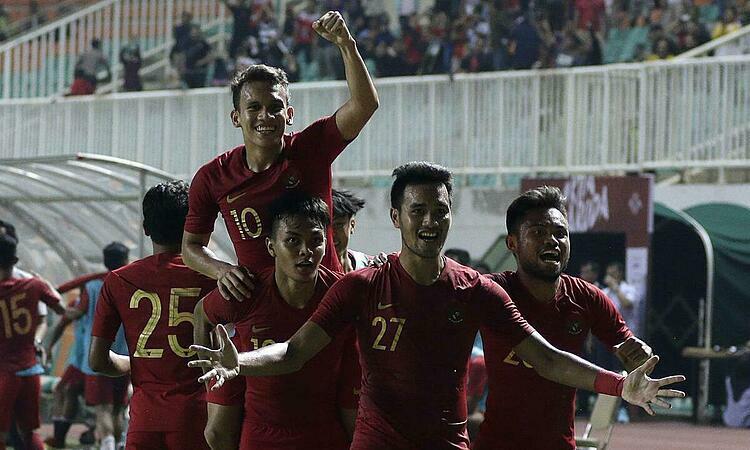 Indonesia tự tin tiết lộ bài tập trước SEA Games. Ảnh: Bola.com.