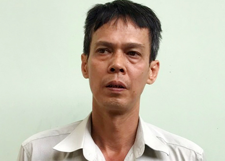 Phạm Chí Dũng lúc bị bắt. Ảnh: Công an cung cấp.
