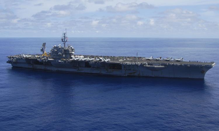 USS Kitty Hawk diễn tập ngoài khơi Nhật Bản năm 2007. Ảnh: US Navy.
