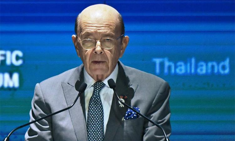 Bộ trưởng Thương mại Mỹ Wilbur Ross phát biểu tại Diễn đàn Doanh nghiệp châu Á - Thái Bình Dương 2019 ở Bangkok, Thái Lan, ngày 4/11. Ảnh:AFP.