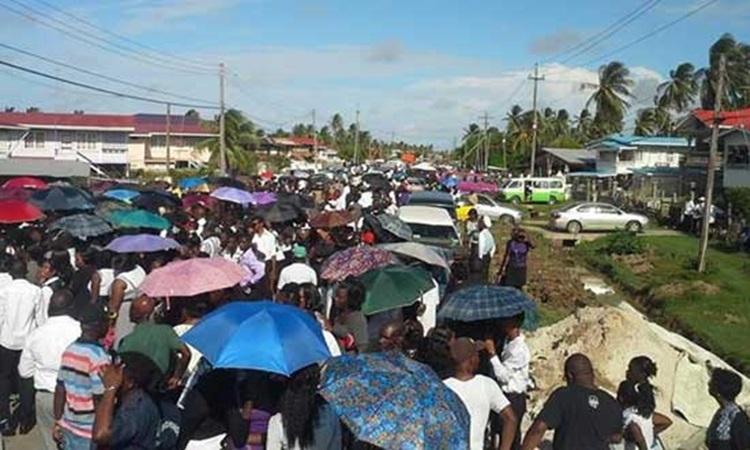 Một đám tang ở Guyana năm 2014. Ảnh: Guyana Chronicle.
