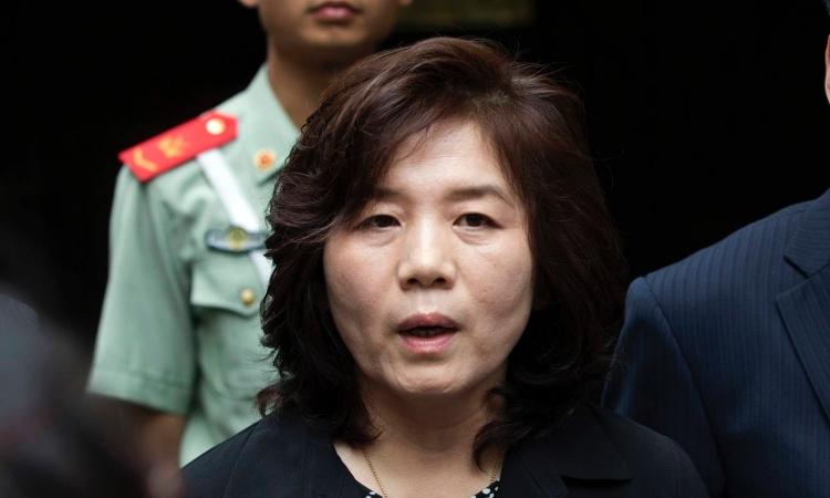 Thứ trưởng Ngoại giao Triều Tiên Choe Son-hui. Ảnh: Reuters.