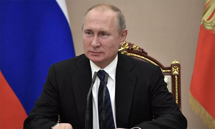 Tổng thống Vladimir Putin trong cuộc họp của Hội đồng An ninh Nga ngày 22/11. Ảnh: RIA News.
