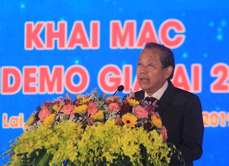 Phó Thủ tướng Trương Hòa Bình đánh giá cao việc tổ chứctrình diễnkết nối cung cầu công nghệ.
