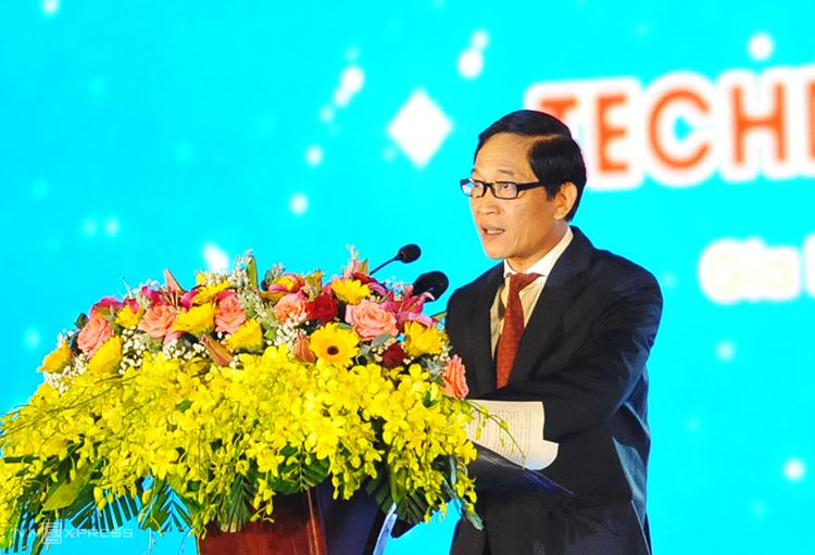 Thư trưởng Trần Văn Tùng phát biểu khai mạc sự kiện. Ảnh: Trần Hòa.