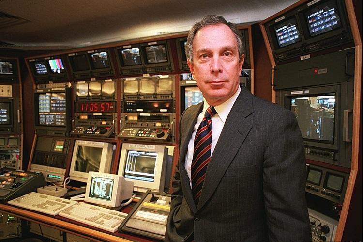 Michael Bloomberg tại trung tâm tin tứcThị trường Tài chính Bloomberg hồi tháng 5/1994. Ảnh: AP.