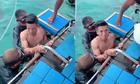 Bùi Tiến Dũng thảng thốt khi lặn biển cùng bạn gái