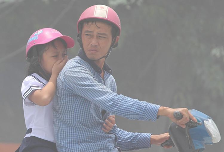 Ô nhiễm không khí ở Sài Gòn ngày càng tăng do khí thải từ 10 triệu xe máy, ôtô; nhà xưởng; xây dựng. Ảnh minh hoạ: Duy Trần.