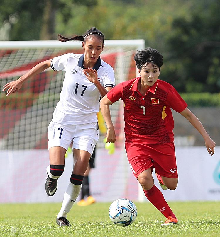 Tuyết Dung (7) là niềm hy vọngcủa tuyển nữ Việt Nam ở SEA Games 30. Ảnh: Đức Đồng.