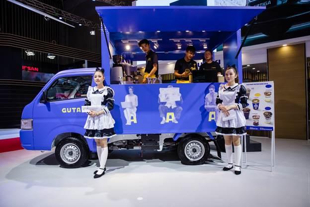 Super Carry Pro của Suzuki biến tấu thành cửa hàng cà phê tại Triển lãm ô tô Việt Nam 2019.