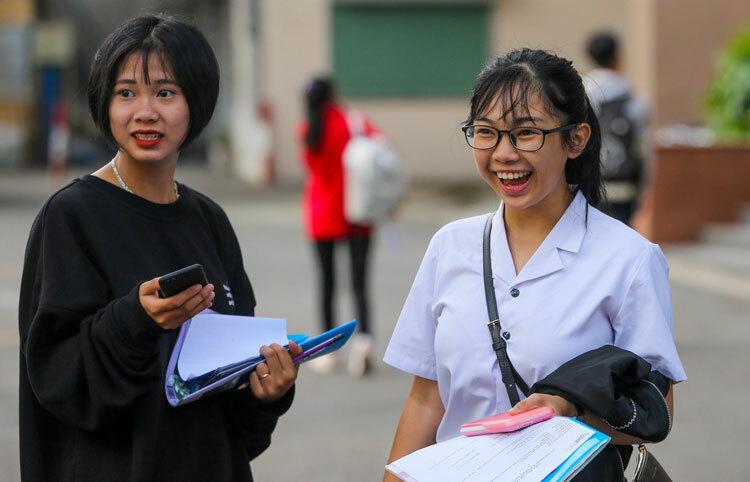 Thí sinh dự thi đánh giá năng lực của Đại học Quốc gia TP HCM hồi tháng 3/2019. Ảnh: Quỳnh Trần.