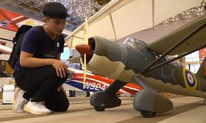 Máy bay siêu nhẹ xuất hiện ở triển lãm công nghệ hàng không
