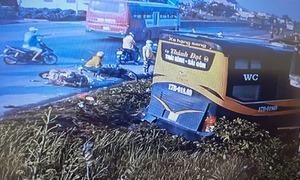 3 người thoát chết khi bị xe khách đâm