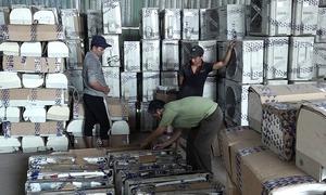 Hơn 300 máy lạnh cũ nhập lậu từ Campuchia