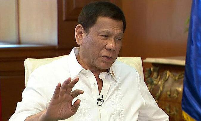 Tổng thống Duterte phát biểu trên truyền hình tối 29/11. Ảnh: CNNPhilippines.