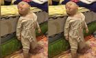 Cậu bé ngã xuống sàn gây bão vì ngủ gật khi đứng