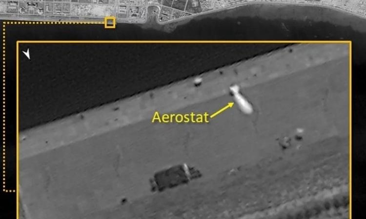 Vật thể có hình dạng aerostat được phát hiện ở đá Vành Khăn thuộc quần đảo Trường Sa của Việt Nam. Ảnh: ISI.