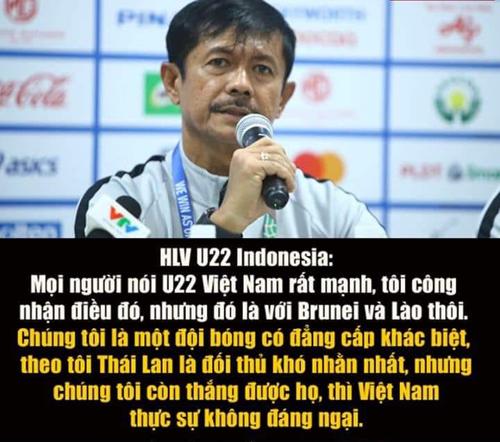 HLV U22 Indonesia trước trận gặp U22 Việt Nam.