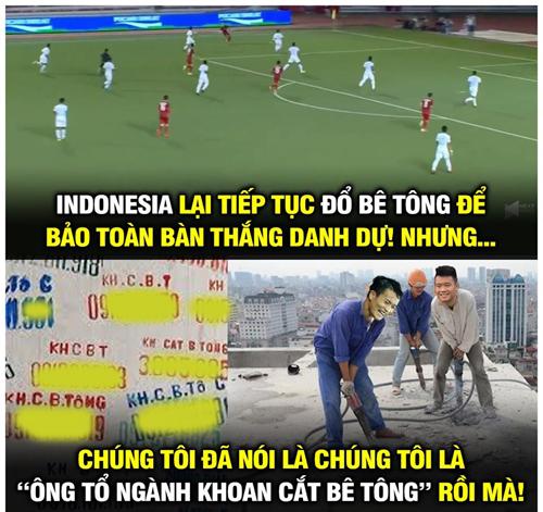 Đổ bê tông chẳng là gì với cầu thủ Việt Nam.