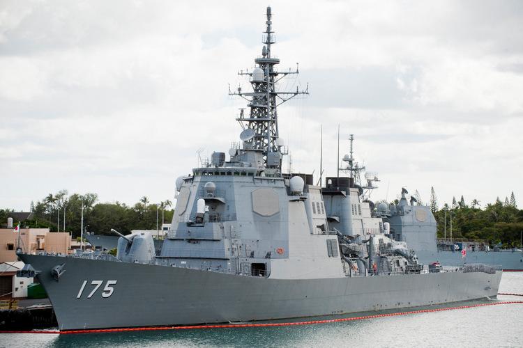 Tàu khu trục JS Myoko của Nhật Bản. Ảnh: NZDF.