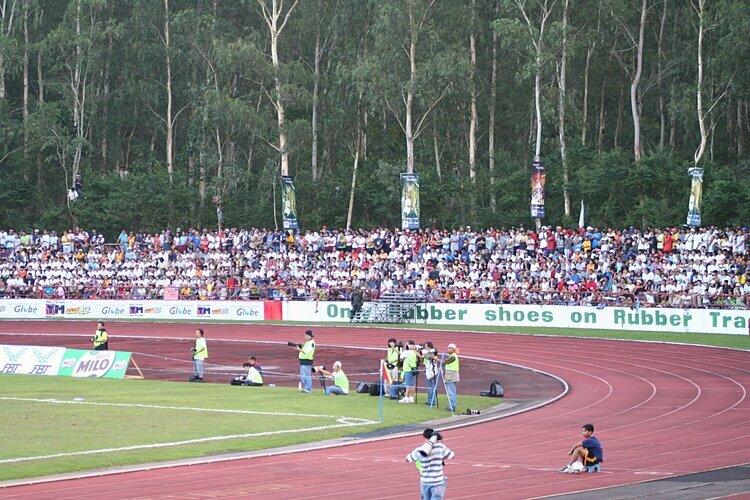 Một góc sân ở Bacolod, trong một trận đấu ở SEA Games 2005.