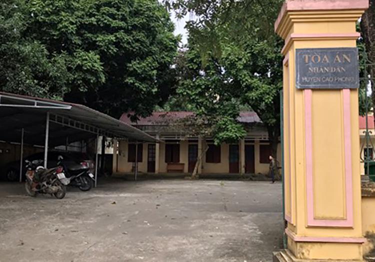 TAND huyện Cao Phong nơi Huy công tác. Ảnh: Phạm Danh.