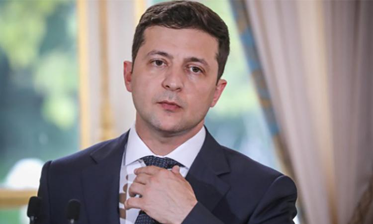 Tổng thống Ukraine Zelensky tại một cuộc họp ở Paris, Pháptháng 6/2019. Ảnh: Reuters.