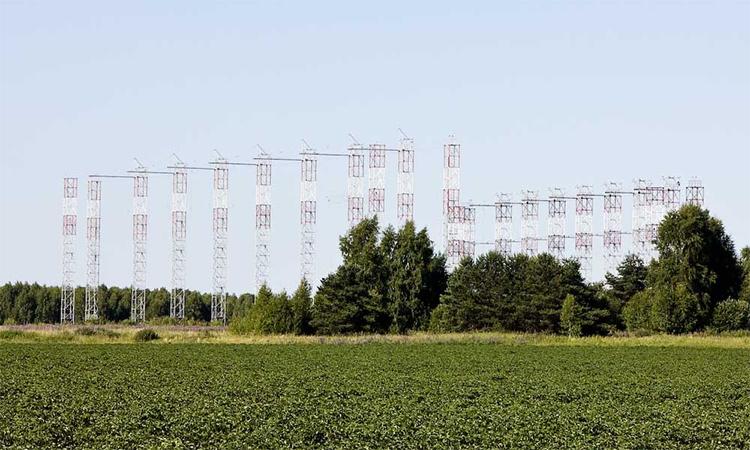 Bộ phận phát của radar 29B6 Konteiner tại nước cộng hòa Mordovia, Nga. Ảnh: BQP Nga.
