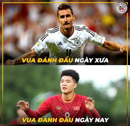 Vua đánh đầu mới của bóng đá thế giới.