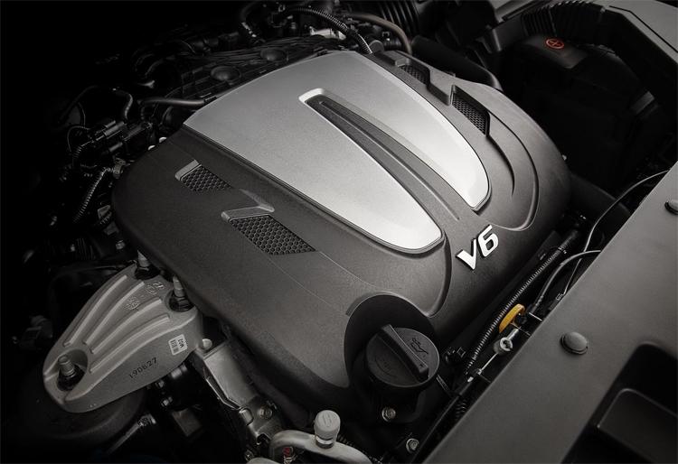 Động cơ mới 3,5 lít V6 thay cho loại 2,4 lít cũ. Ảnh: Hyundai