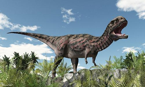 Hình ảnh phục dựng khủng long Majungasaurus. Đồ họa: Raul Lunia.