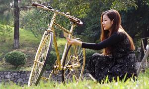 Xe đạp thể thao mạ vàng 9999