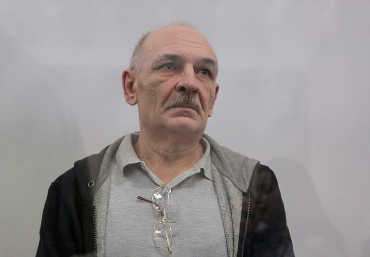 Volodymyr Tsemakh, nghi phạm liên quan tới vụ bắn rơi máy bay MH17 hồi năm 2014, ra tòa ở thủ đô Kiev, Ukraine hôm 5/9. Ảnh: Reuters.