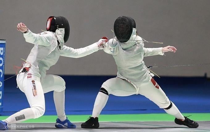 Đỗ Thị Việt Anh (phải) từng dự Olympic Rio 2016. Ảnh: Lâm Thỏa.