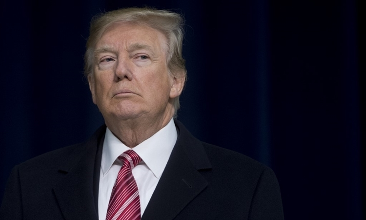 Tổng thống Trump tại Maryland hồi tháng một. Ảnh: AFP.