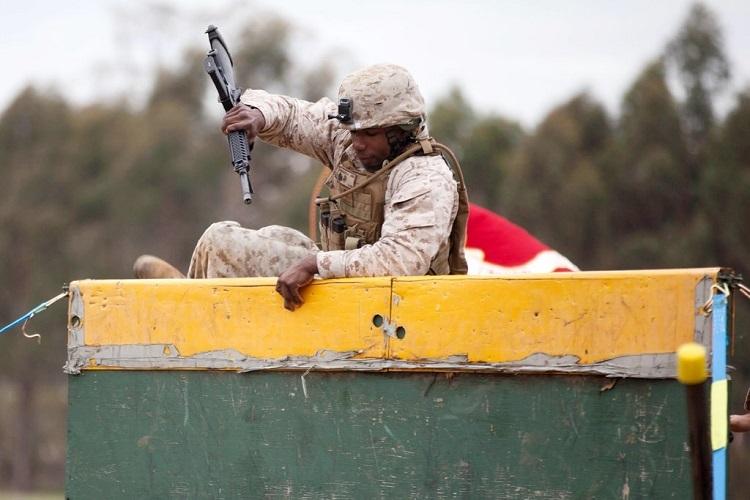 Lính thủyđánh bộ Duroseau trong một hội thao quân sự ở Australia hồi năm 2016. Ảnh: Marine Corps.