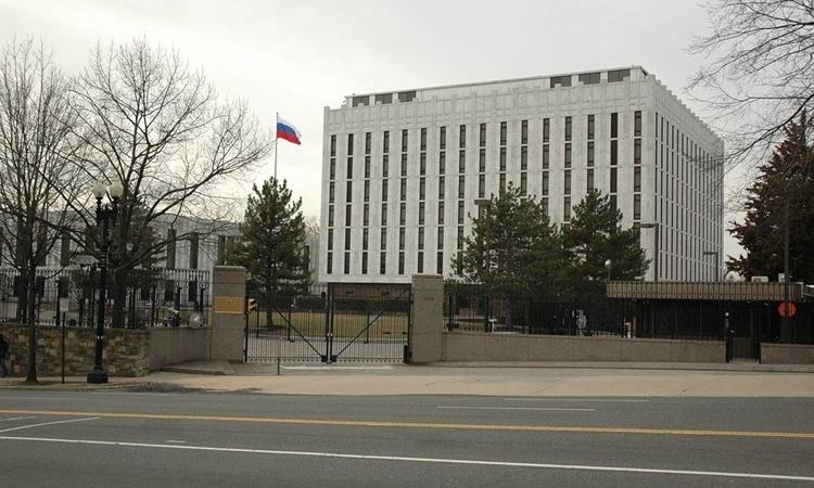 Đại sứ quán Nga tại Washington, Mỹ. Ảnh: TASS.