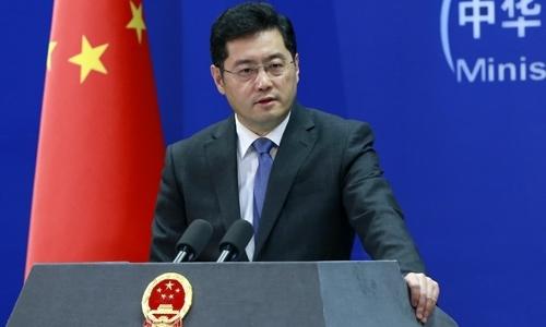 Ông Tần Cương tại Bắc Kinh tháng 4/2014. Ảnh: Xinhua.