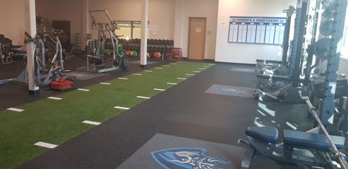 Một góc phòng tập gym của The Village.