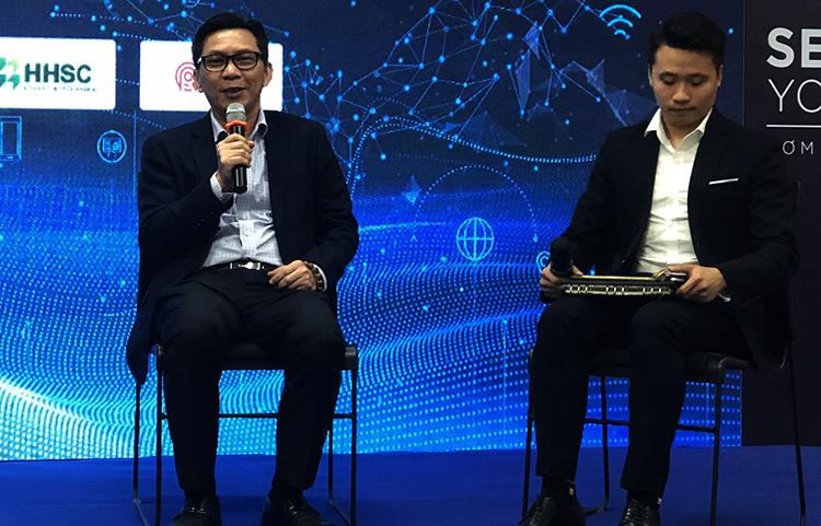 Các đại biểu thảo luận tại hội thảo về các giải pháp phát triển hệ sinh thái khởi nghiệp. Ảnh: HM