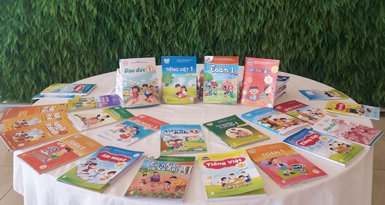 Sách giáo khoa lớp 1 của Nhà xuất bản Giáo dục Việt Nam. Ảnh: Thanh Hằng