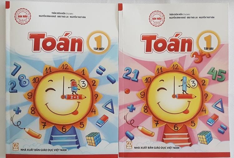 Sách Toán 1 của Nhà xuất bản Giáo dục Việt Nam. Ảnh: Thanh Hằng