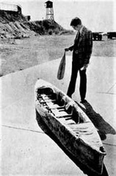 Chiếc thuyền Forrest dùng để trốn khỏi nhà tù San Quentin vào năm 1979. Ảnh: The San Francisco Chronicle.