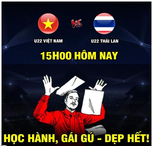 Tất cả hướng về U22 Việt Nam.