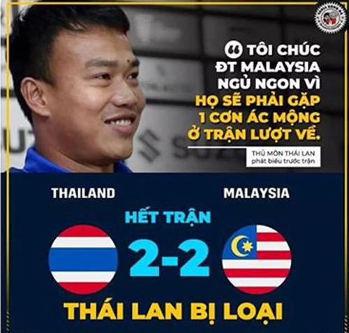 Ngày này năm trước Thái Lan bị Malaysia loại khỏi AFF Cup 2018.